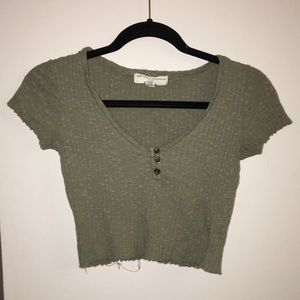 Urban Outfitters ripped cropped tee